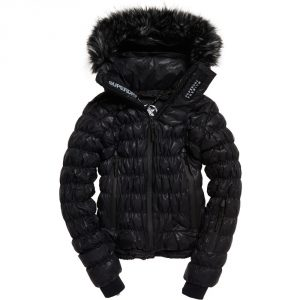 Superdry Womens SD Stealth Ski Down Insulated Bomber Coat