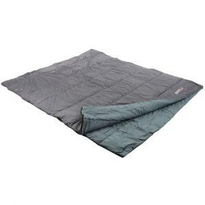Maui Polyester Lined Double Sleeping Bag Grey Marl