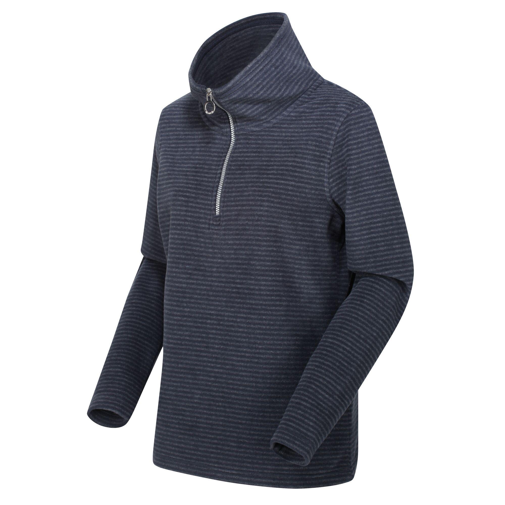 Women's Solenne Half Zip Stripe Fleece Navy Silver
