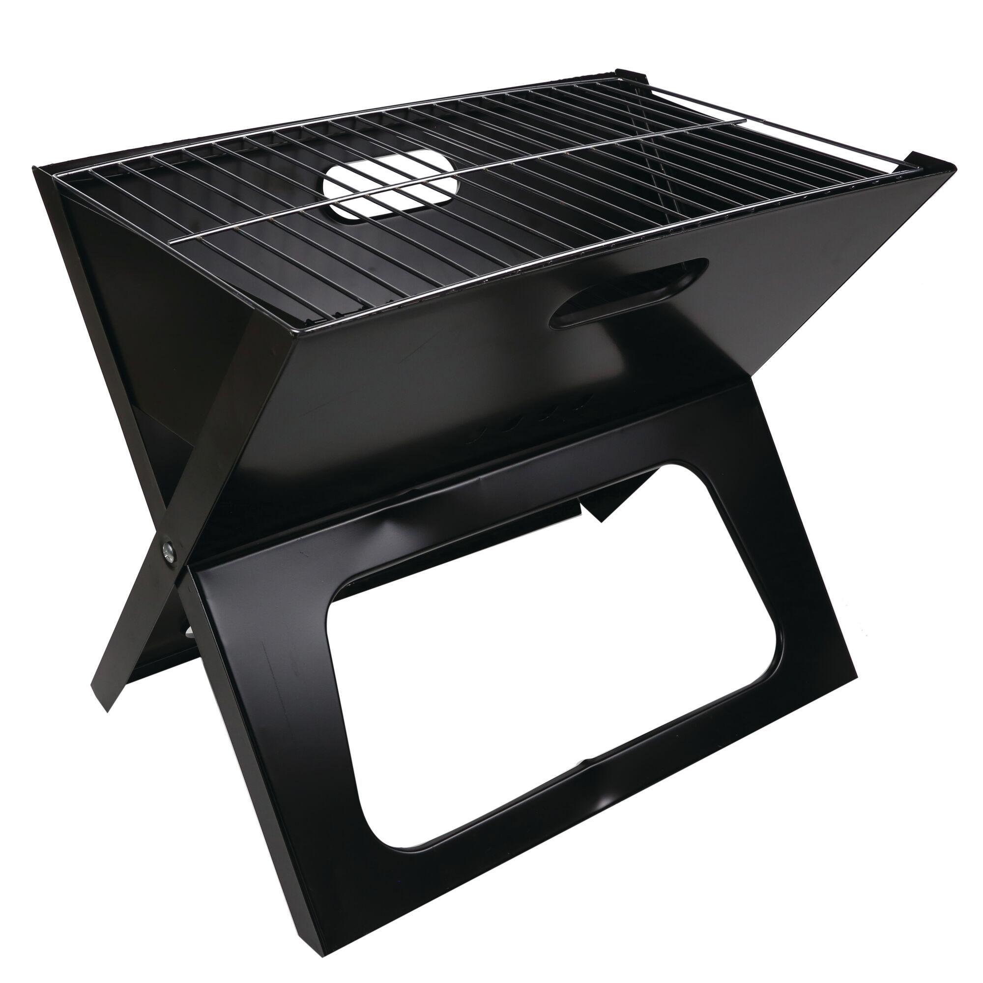 Fold Away BBQ Grill Black