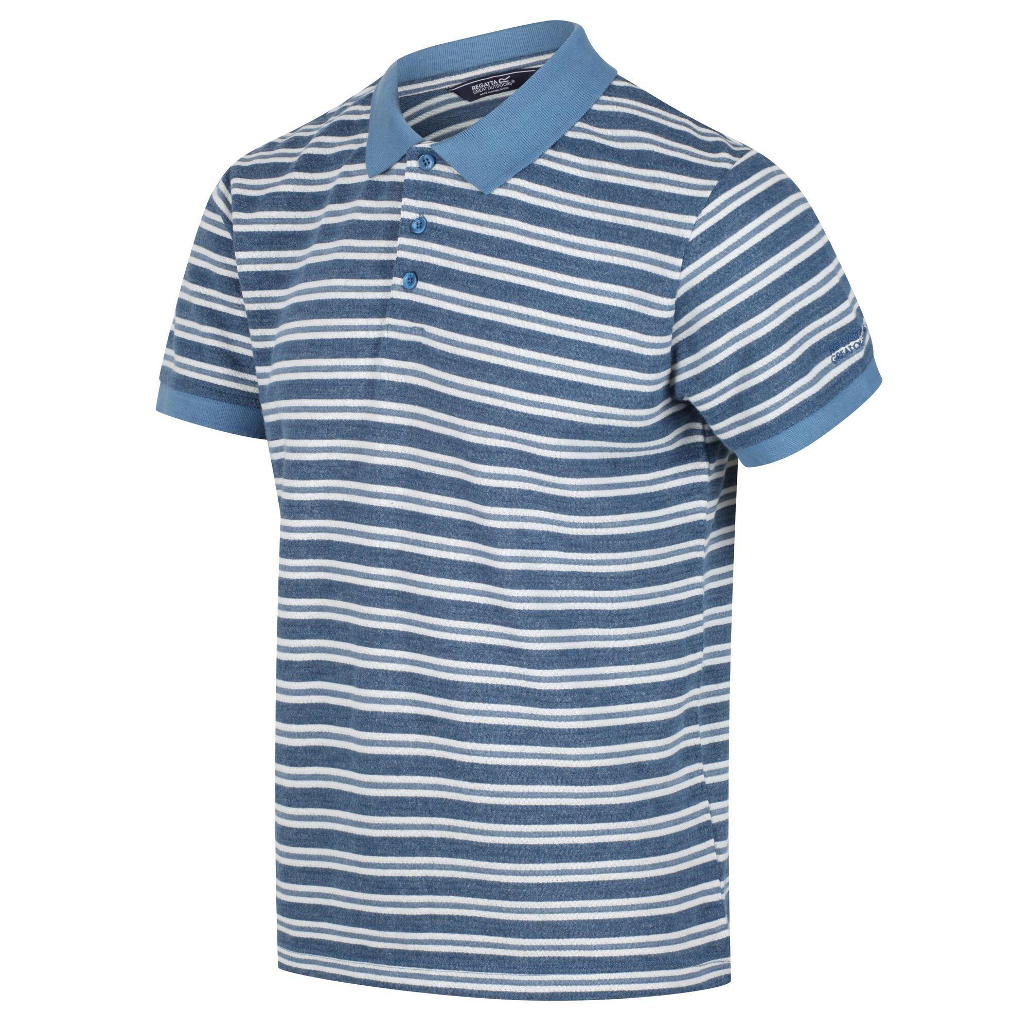 Men's Malak Striped Polo Shirt Stellar Stripe