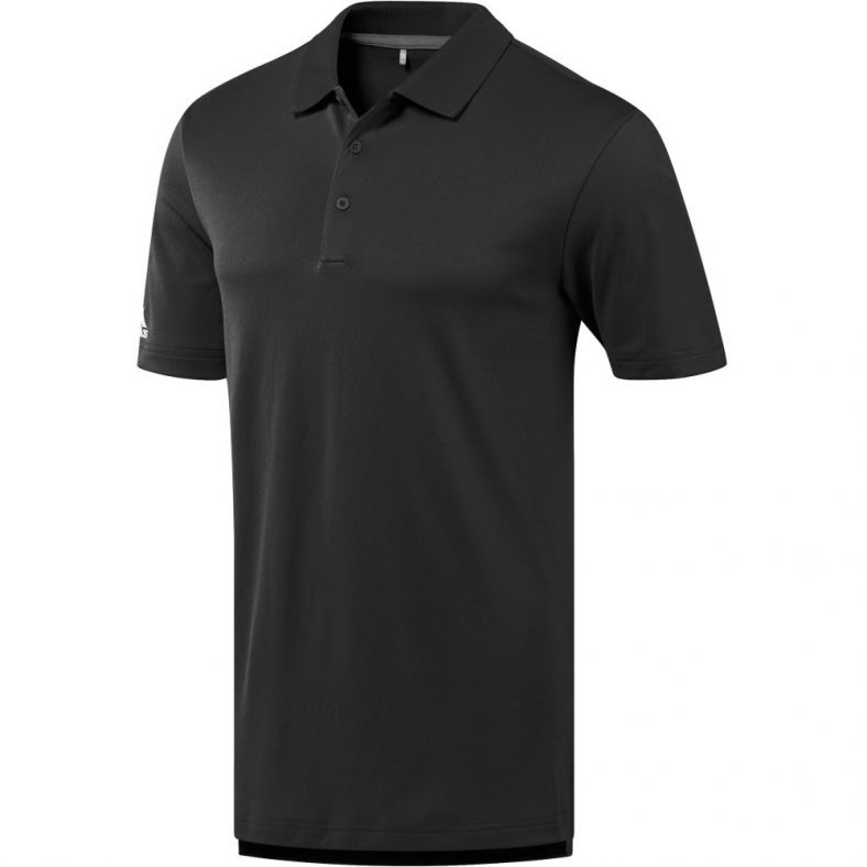 Adidas Mens Performance UV Protect Ribbed Casual Sporty Polo Shirt