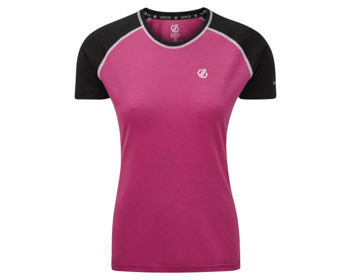 Dare 2b - Women's Fixate Wool T-Shirt Active Pink Black