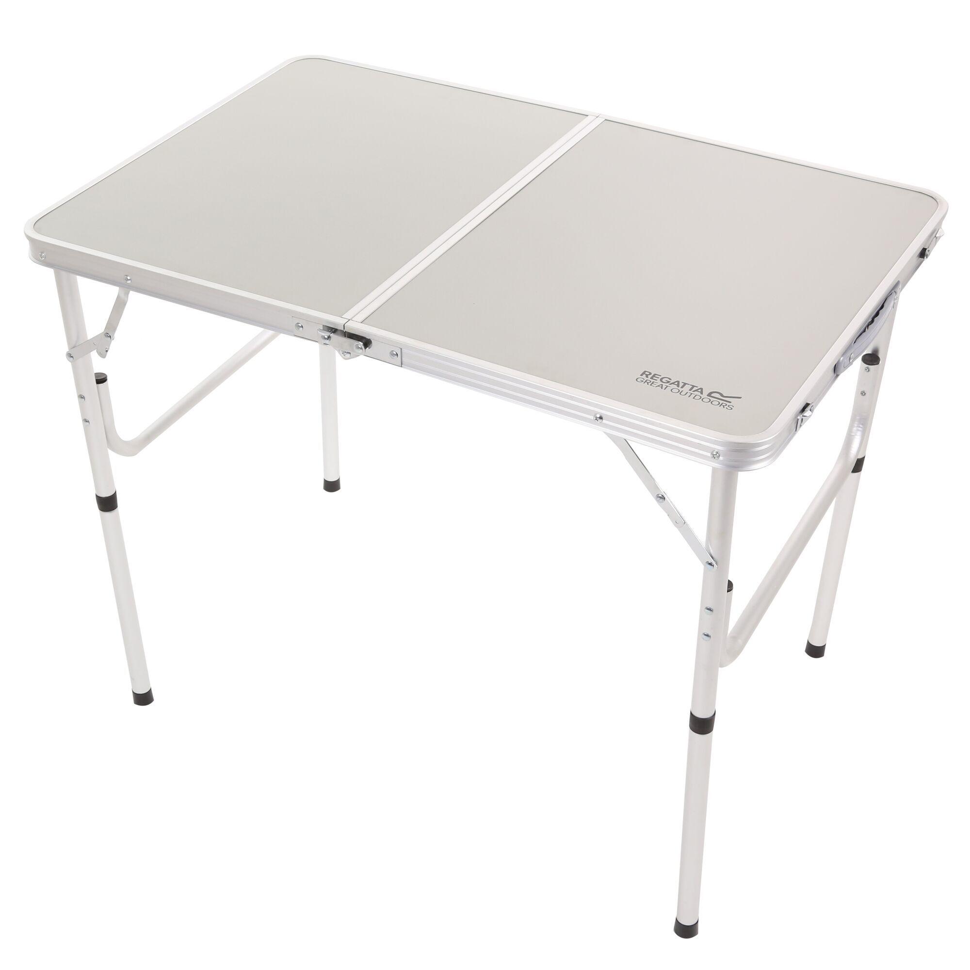 Cena Lightweight Bi-Folding Table Lead Grey