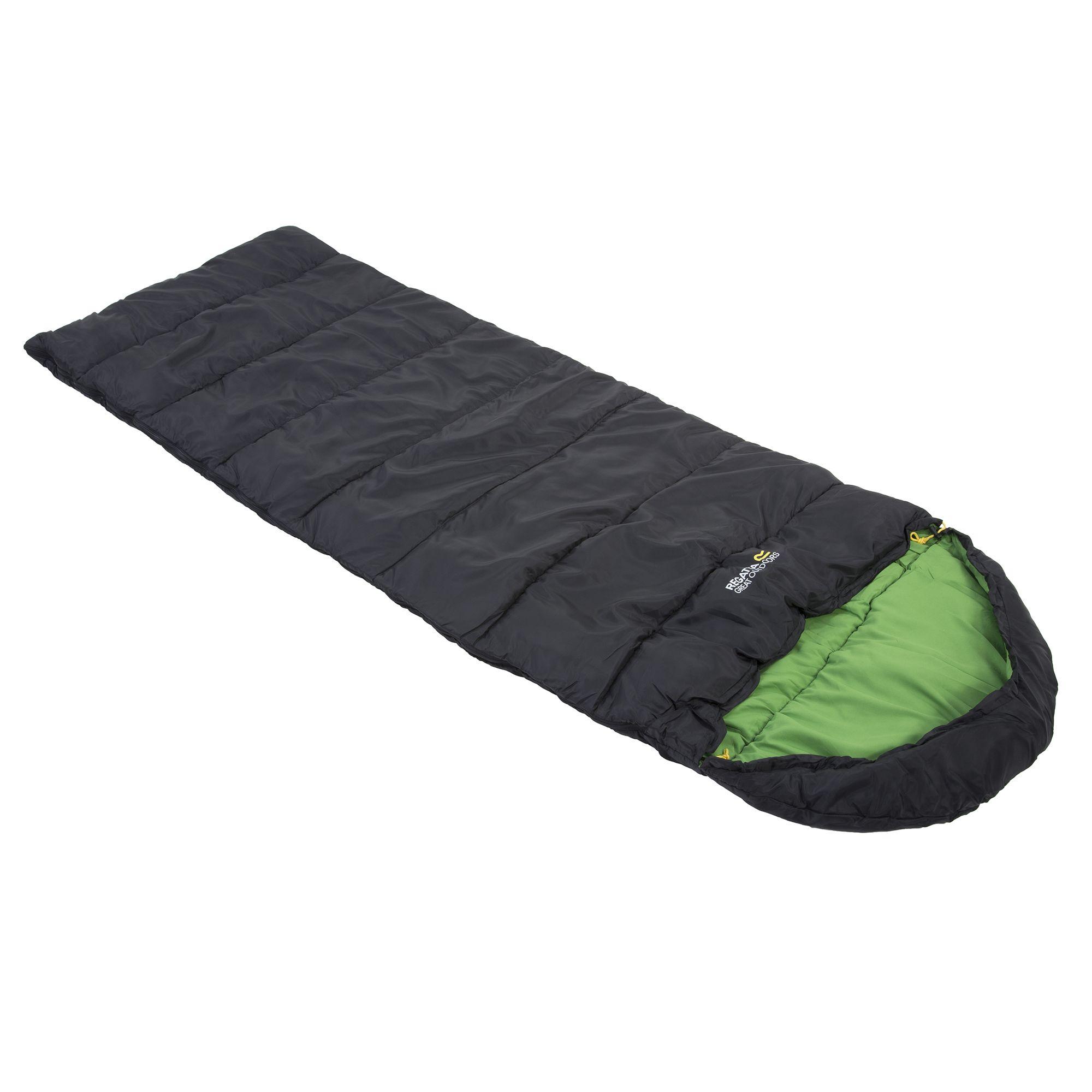 Hana 200 Polyester Lined Mummy Sleeping Bag Black