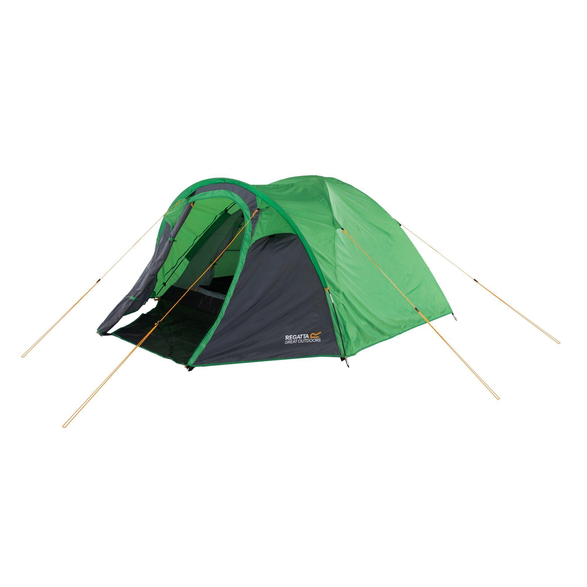 Kivu 3 Man Dome Tent Extreme Green Seal Grey