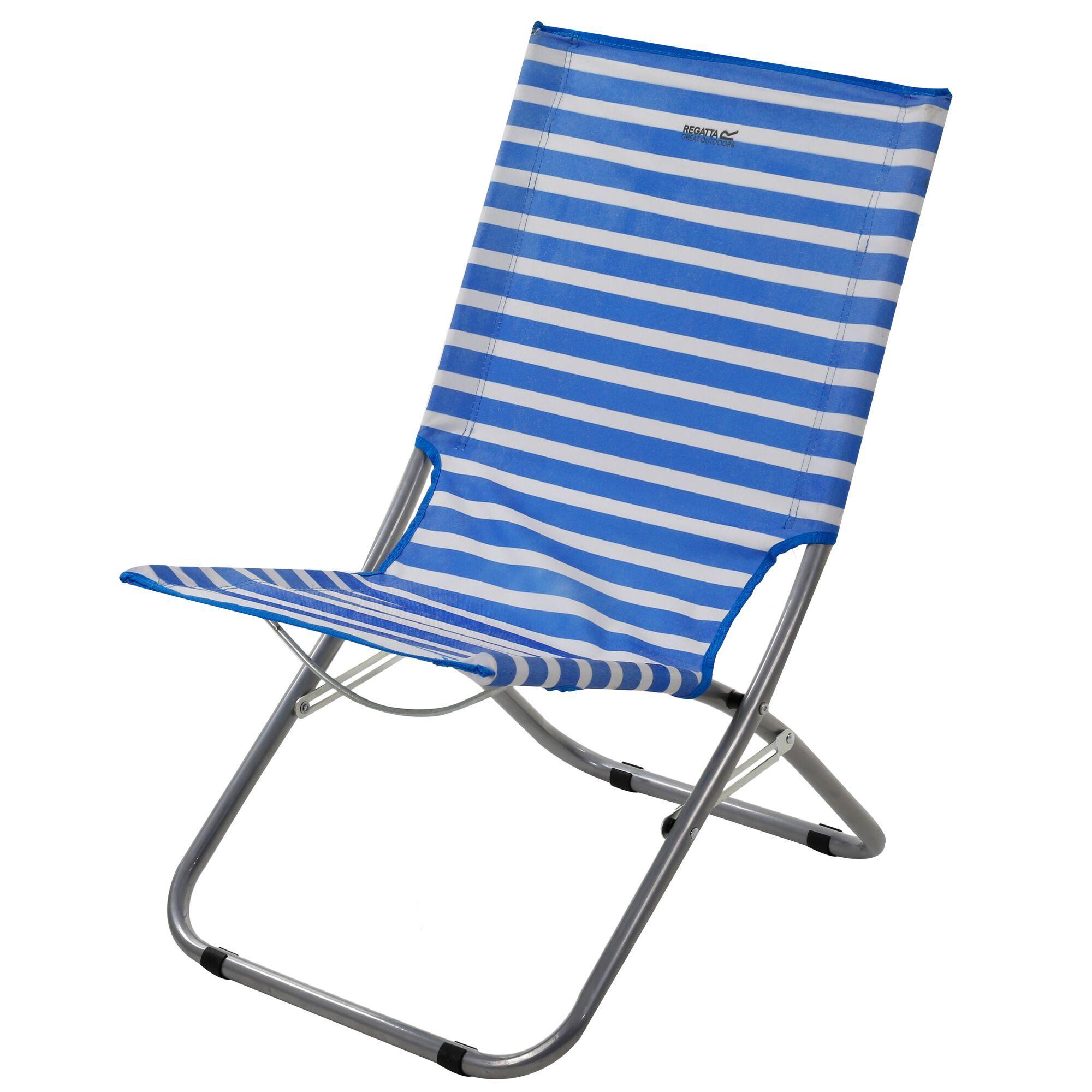 Kruza Beach Lounger French Blue White