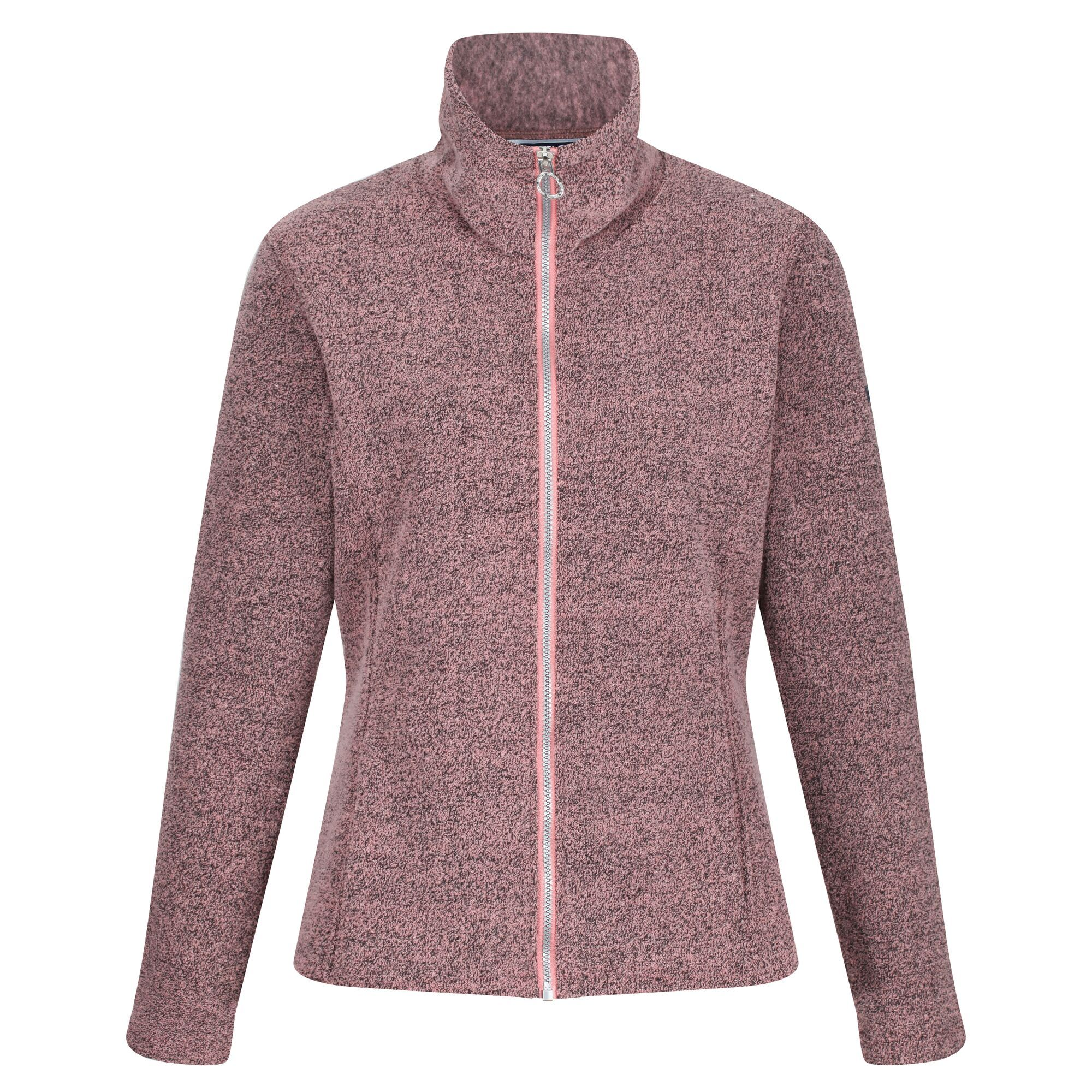 Women's Heloise Full Zip Fleece Dusty Rose Heather Marl