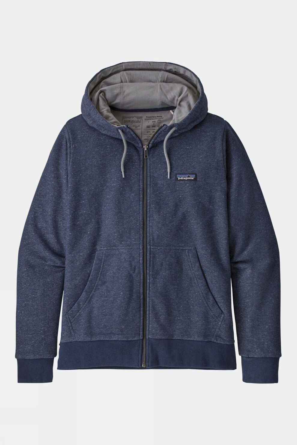 Patagonia Womens P-6 Label French Terry Full-Zip Hoody